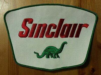 Large Circa 1960s Sinclair Jacket Uniform Back Patch Advertising With Dino