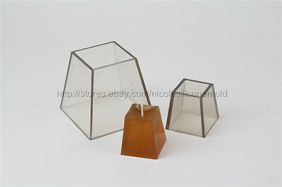Trapezoid PVC Plastic Candle Mold Soap Molds DIY Tools Craft Clay Chocolate