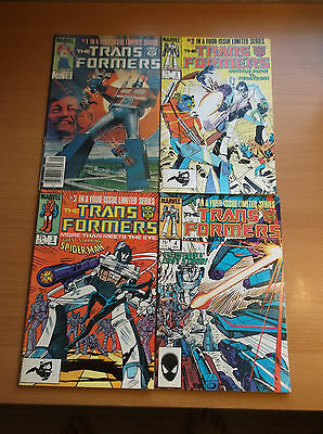 Marvel: Transformers #1 - 4, Rare Complete Limited Series, 1984, Vf (8.0)!!!