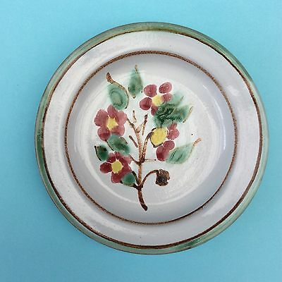 AUSTRALIAN STUDIO POTTERY TERRACOTTA PIN DISH Signed Hand-painted Decorative