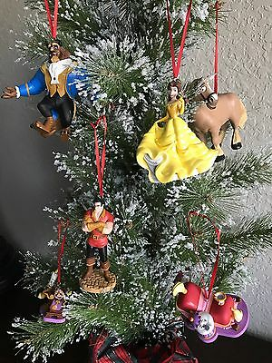 """The Beauty and The Beast"" Christmas Holiday Custom Ornament Set 6pc"