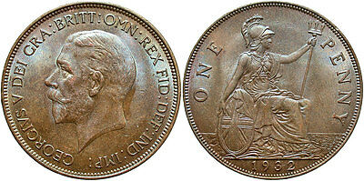 GREAT BRITAIN: George V 1932 1 Penny #WC71378