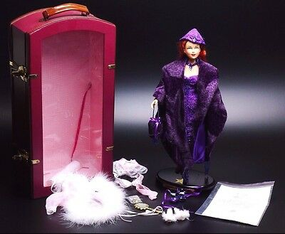 Effanbee Brenda Starr Doll With Lingerie Outfit/purple Leopard Outfit And Trunk