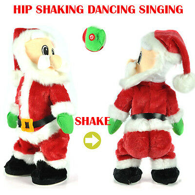 Electric Xmas man Twisted Hip Dancing singer Santa happyness Animated Claus Toys