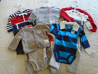 New 14 Pc. Lot Of Newborn Baby Boy Clothes Nwt $124