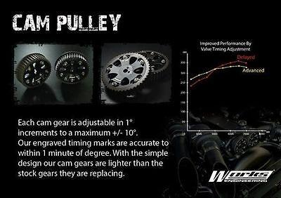 Works Engineering Cam Gear Pulley Fits Nissan Skyline R32 R33 R34 RB20 RB25 RB26
