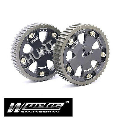 Works Racing Cam Gear Pulley Fits Mitsubishi EVO 1 2 3 4 5 6 7 8 Galant VR4 4G63