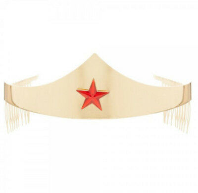DC Comics Wonder Woman Tiara with Gem Star Accessory Superhero Headpiece