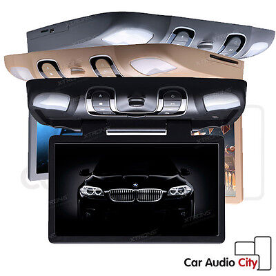 """15.6"""" HD Car Roof Mounted DVD Player Overhead Monitor Games SD USB AUX IR/FM-TX"""