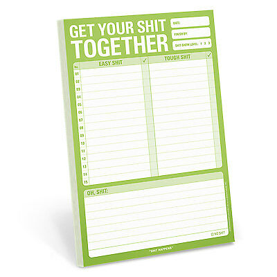 Knock Knock Get Your $hit Together - Note Pad