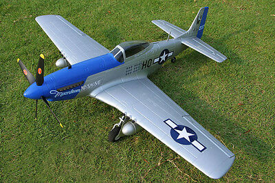 Top High Scale P-51D Mustang RC Airplane Remote Control Plane KIT Warbirds Model