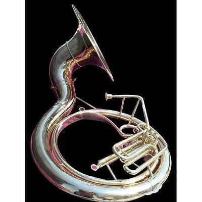 """Indian Handmade Brass Finish 25""""sousaphone Brass Made Tuba Mouth Piece With Bag"""