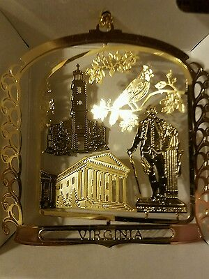 Virginia  Brass Christmas Ornament  Nations Treasures