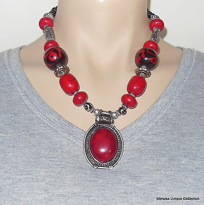 NEW STYLE LATEST FASHION Nepalese Tibetan Handmade Coral Pendant Necklace NL-01