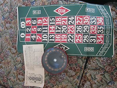 Marx Merry Time Roulette Wheel with rules and paper mat