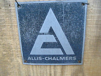 Vintage 5'' by 5''  1950s Allis-Chalmers Aluminum Sign Metal AC Tractor?