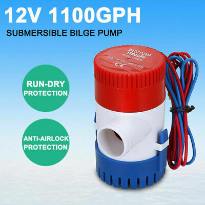 12V1100GPH New Submersible Bilge Water Pump Marine Fishing Boat Caravan Camping
