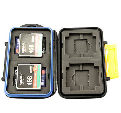 JJC Water-Resistant Hard Storage Memory Card Case For 4CF 4SD 4XD 4MS Pro Duo