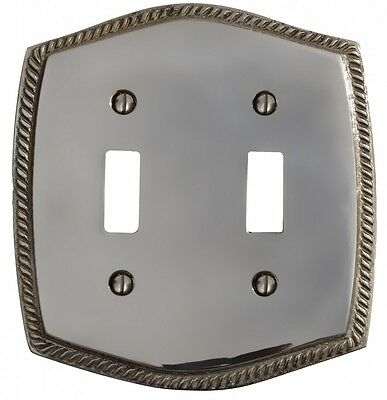 Switchplate Chrome 5 1/4 H Braided Double Toggle | Renovators Supply