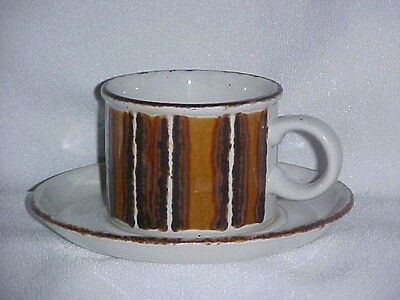 Stonehenge Midwinter Earth Cup & Saucer Set Made In England Stoneware