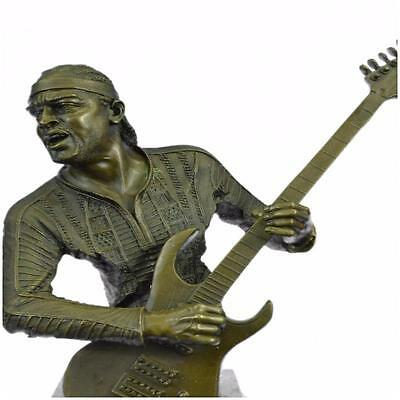 Bronze *DEAL* Sculpture *SALE* Statue Extra Large Jimmy Hendrix Playing His G l