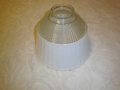 Vintage floor lamp glass diffuser shade torchiere  National Home Lamp Council