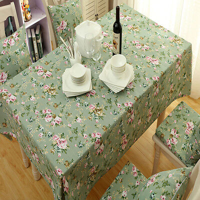 Table Cloth Cover Canvas Vintage Floral Home Dining Kitchen Table Protector New