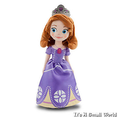 """Disney Store Princess Sofia the First Plush Doll Small Size 13"""" H First Edition"""