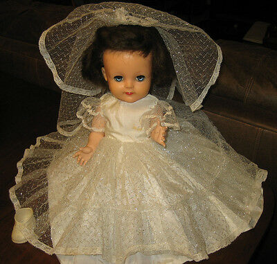 17 inch Ideal Dark Haired Princess Mary Walker Doll
