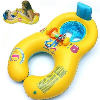 Baby Swimming Ring Mother And Child Swimming Float Circle Double Inflatable Ring