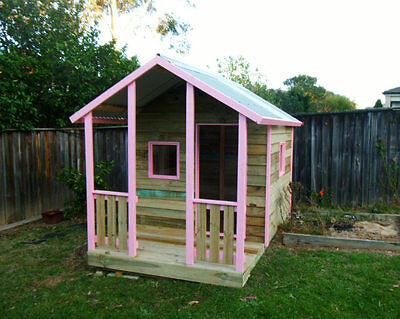 Pink custom quality cubby house
