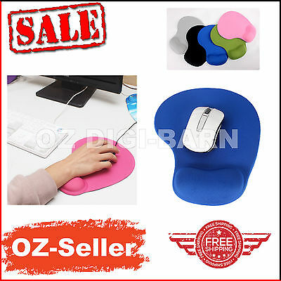 Soft Gel Rest Comfort Wrist Support Mat Mouse Mice Pad Gaming PC Computer