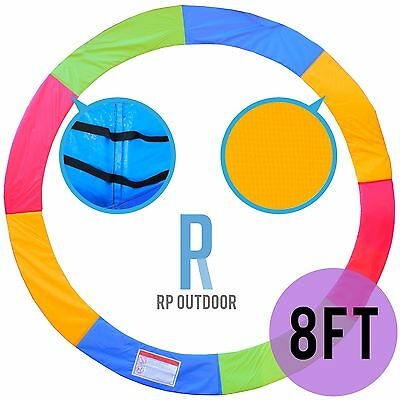 NEW Replacement Trampoline Rainbow Safety Pad Cover Round/Circle Spare 8ft foot