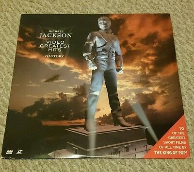 Michael Jackson LASER DISC Video Greatest Hits HIStory
