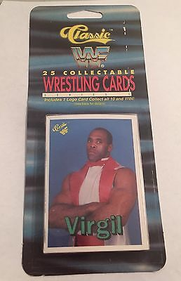 1990 Classic WWF 25 Card Blister Pack Virgil On Top Wrestling Cards
