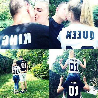 Couple T-Shirt King 01 and Queen 01 - Love Matching Shirts - Couple Tee Tops  SW