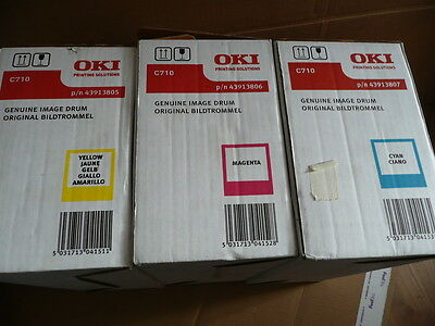 Genuine OKI C710IMAGE  DRUM YELLOW 43913805 CYAN  43913807 MAGENTA  43913806
