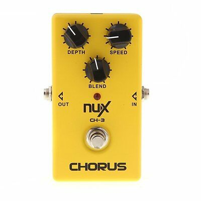 NUX CH-3 Chorus Electric Guitar Effect Pedal Low Noise True Bypass Musical