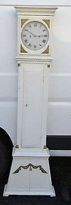 ANTIQUE DUTCH GRANDFATHER LONGCASE CLOCK SHABBY CHIC white