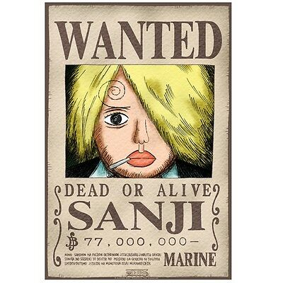 "One Piece Poster ""Wanted Sanji"" (52x38cm)"