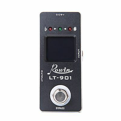 New Guitar Chromatic Auto Pedal Tuner with LCD Display True Bypass Rowin  LT-901