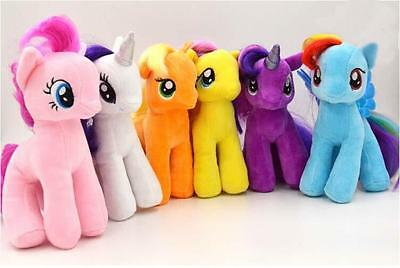 Cute 7'' My Little Pony Horse Figure Stuffed Plush Soft Teddy Doll Toy Kids Gift