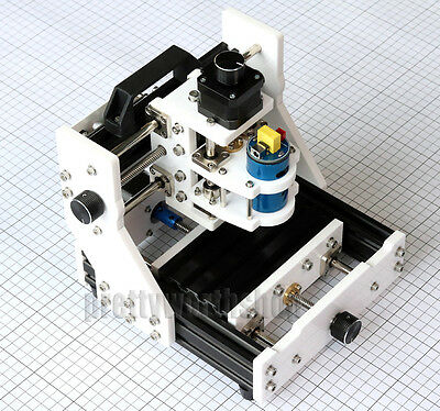 Mini Milling Machine CNC/Laser DIY Desktop 3 Axis Mill Engraving Wood PCB Rubber