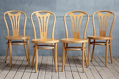 4x Vintage MidCentury Czech Bentwood Dining Kitchen Cafe Chairs