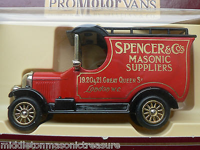 Limited Edition Masonic Die Cast Car / Lorry Spencer & Co Ref 046Mt