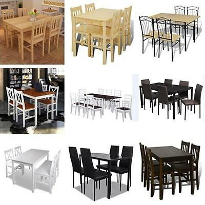 Solid Wooden Dining Table and Chairs Set Kitchen Furniture Set Pine  11 Styles