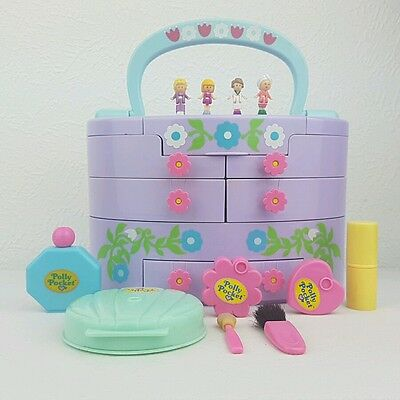 Vintage polly pocket Make up Box 100%Complete Pullout playhouse excellent cond..