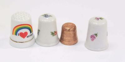 Four Thimbles, Three Ceramic, One Copper from Sovereign Hill #10446
