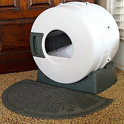 Cat Litter Tray Box Large Spinning Self Clean Toilet Automatic Hooded Enclosed