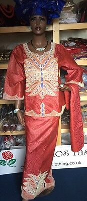 African Senegalese Style top and a wrapper Skirt Size available: 3XL and 4XL